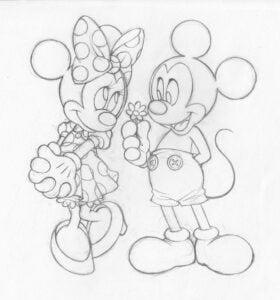 Desene in creion de dragoste cute